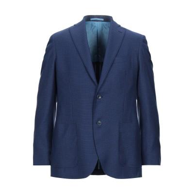 STEVE&COLLINS テーラードジャケット ブルー 48 バージンウール 100% テーラードジャケット