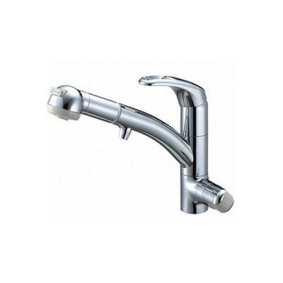 水栓金具 三栄水栓 K8767JV2-7S-C-13 シングルワンホールスプレー混合栓(浄水器兼用) [□]