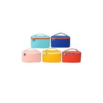 [Pink]大容量ポータブル化粧品バッグPU鉛筆文房具用品収納バッグ学校ホームオフィス用品