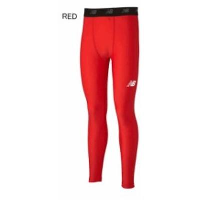 ニューバランス サッカー パワータイツ インナースパッツ ストレッチインナーロングパンツ レッド JMPF7381-RED