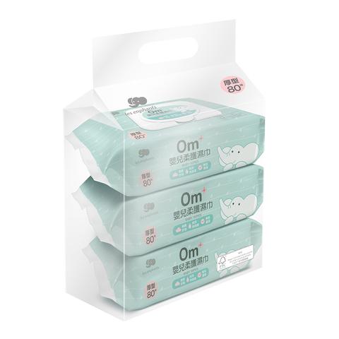 Les enphants 麗嬰房 EDI超純水濕巾(80抽)x3包/串