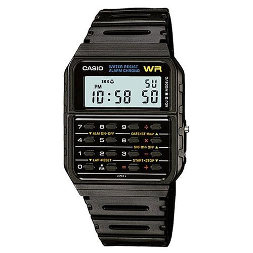【CASIO】回到未來經典計算機錶-黑(CA-53W-1)正版宏崑公司貨