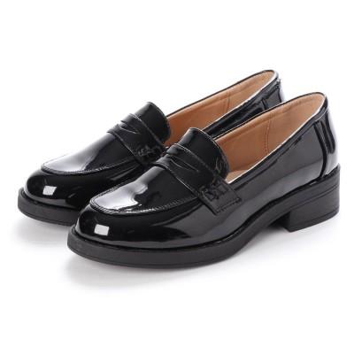 SFW サンエープラスフェミニン AAA+ feminine おじ靴'マニッシュコインローファー/3571 (ブラックエナメル)