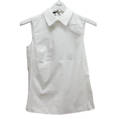 JIL SANDER NAVY ノースリーブシャツ ホワイト サイズ:32 (中目黒店) 210506