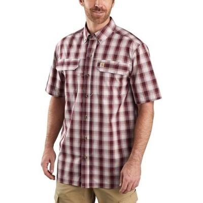 カーハート メンズ シャツ トップス Force Short-Sleeve Button-Front Plaid Shirt