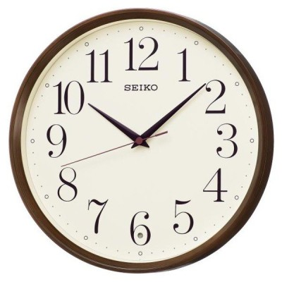SEIKO セイコー 掛け時計 電波 アナログ 濃茶木目模様 KX222B お取り寄せ