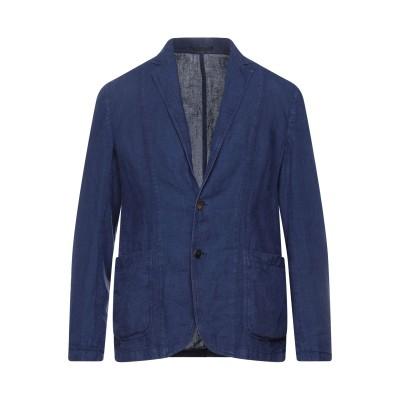 ZZEGNA テーラードジャケット ブルー 48 麻 100% テーラードジャケット