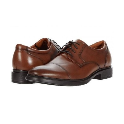 Florsheim フローシャイム メンズ 男性用 シューズ 靴 オックスフォード 紳士靴 通勤靴 Forecast Waterproof Cap Toe Oxford - Cognac Smooth