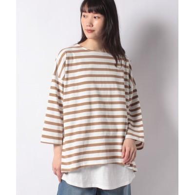 (Samansa Mos2/サマンサ モスモス)【SM2】レイヤードゆるロングTシャツセット/レディース ブラウン
