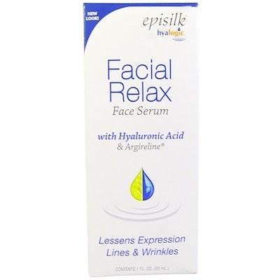 エピシルク(Episilk), フェイシャルリラックス フェイスセラム(美容液), 1液量オンス(30 ml)