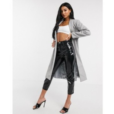 ユニーク21 UNIQUE21 レディース コート ラップコート アウター Unique21 wrap coat in grey グレー