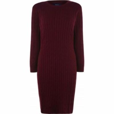 ガント Gant レディース ワンピース ワンピース・ドレス Cable Dress Port Red