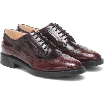 トッズ Tod's レディース ローファー・オックスフォード メダリオン シューズ・靴 Leather Brogues Mosto