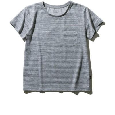ノースフェイス(THE NORTH FACE)半袖Tシャツ ショートスリーブ ポケット NTW31935 Z シンプル 胸ポケット グレー 灰色