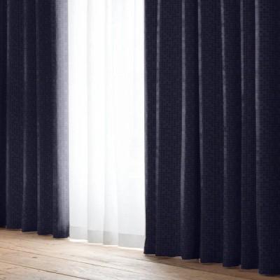 厚地カーテン D.ルイーザ(2枚組) ネイビー 幅100×丈135cm