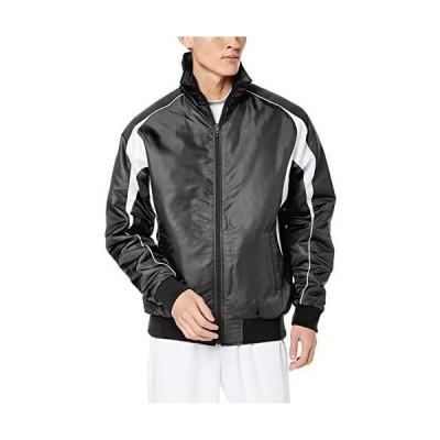 [エスエスケイ] ジャケット グラウンドコート フロントフルZIP(中綿) メンズ ブラック×ホワイト (9010) 日本 O (日本サイズ2L相当)
