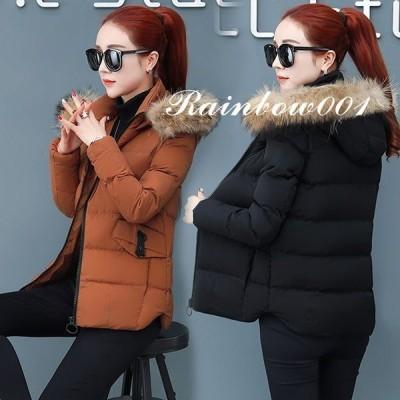【セール】中綿コート レディース 40代 SI 30代 ショート丈 軽い 冬服 厚手 アウター ダウン風コート 中綿ジャケット パーカー フード