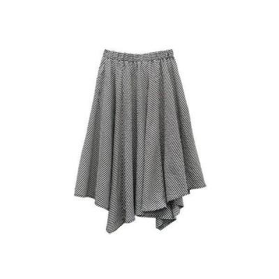 ジーラ GeeRA ハンカチヘムデザインスカート (クロギンガム)