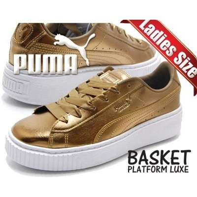 プーマ バスケット プラットフォーム PUMA BASKET PLATFORM LUXE WMNS ermine スニーカー レディース ウィメンズ 厚底