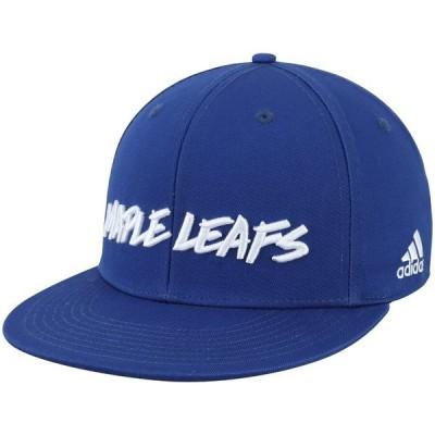 アディダス 帽子 アクセサリー メンズ Toronto Maple Leafs adidas Culture Snapback Adjustable Hat Blue