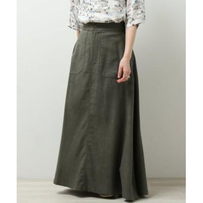 【ダブルネーム/DOUBLE NAME】 製品バイオウォッシュ加工変わり織りフレアスカート