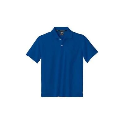 半袖ポロシャツ ハニカムメッシュ ジーベック 6030 ロイヤルブルー/LL