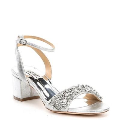 バッジェリーミシュカ レディース サンダル シューズ Ivanna Metallic Leather Block Heel Dress Sandals