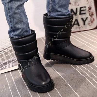 ブーツ メンズ スノーブーツ 大きいサイズ スノーシューズ 歩きやすい ショート 防寒 防滑 軽量 軽い ダウンブーツ ハイカット 靴 暖かい裏起毛 防寒 保暖
