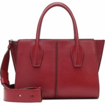 トッズ Tods レディース トートバッグ バッグ Lee Small leather tote Granato Rosso