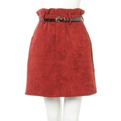 INGNI / コーデュロイベルト付き/台形スカート WOMEN スカート > スカート