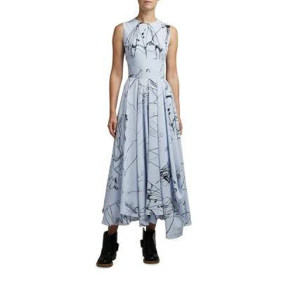 アレキサンダー・マックイーン レディース ワンピース トップス Dancing Girl Print Silk Dress