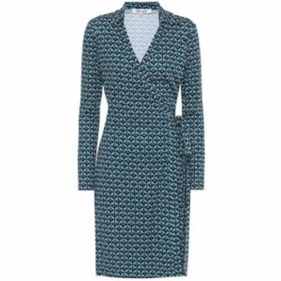 ダイアン フォン ファステンバーグ Diane von Furstenberg レディース ワンピース ラップドレス Jeanne Two printed silk wrap dress Geo