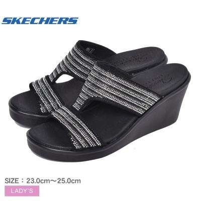 スケッチャーズ サンダル レディース ランブル オン ブリング ギャル SKECHERS 119001 ブラック 黒 シューズ スポーティ ヒール 靴 ブランド