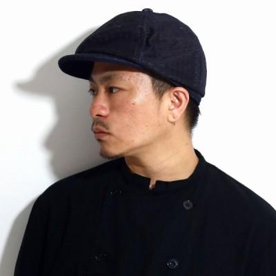 キャスケット メンズ ハンチング 個性的 キャスケット 和装 帽子 和柄 アメカジ ハンチング帽 和 畳 着物 小物 THE FACTORY MADE 日本製 ネイビー