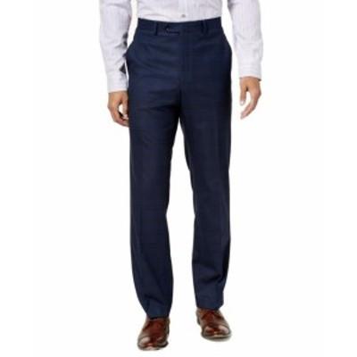 Alfani  ファッション パンツ Alfani NEW Blue Mens Size 32x30 Dress - Flat Front Stretch Slim Pants