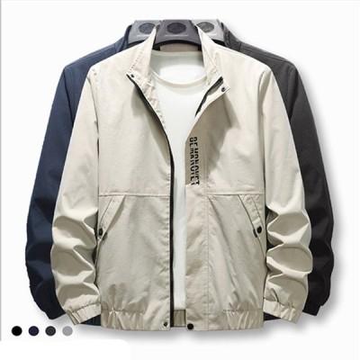 メンズジャケット春秋冬長袖コーチジャケットアウターフライトジャケットミリタリージャケット大きいサイズ防風