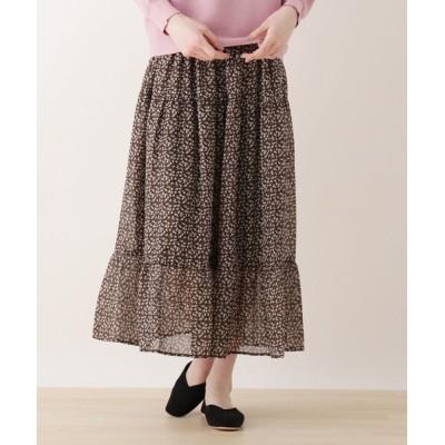 SHOO・LA・RUE / 【S-L】フラワーティアードスカート WOMEN スカート > スカート