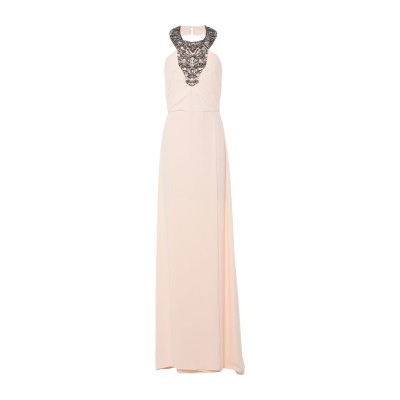 ELISABETTA FRANCHI ロングワンピース&ドレス サンド 42 ポリエステル 100% / シルク ロングワンピース&ドレス