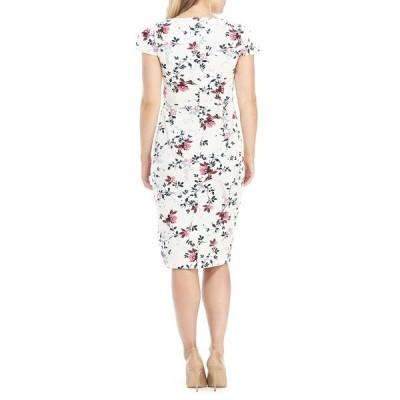 マギーロンドン レディース ワンピース トップス Shayla Floral Cap Sleeve Sheath Dress BEIGE/CORAL