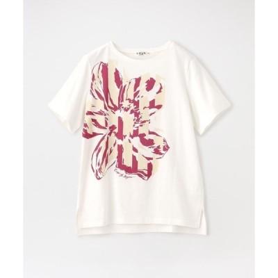 tシャツ Tシャツ 【ウォッシャブル】【消臭抗菌】トロピカルフラワーカットソー