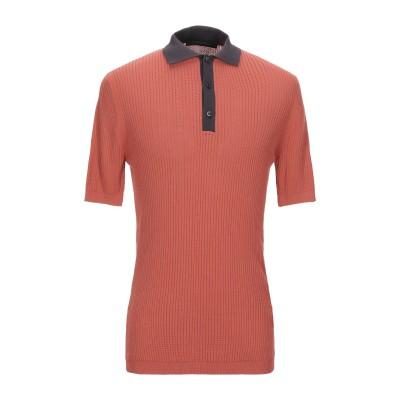 メッサジェリエ MESSAGERIE ポロシャツ 赤茶色 48 コットン 100% ポロシャツ