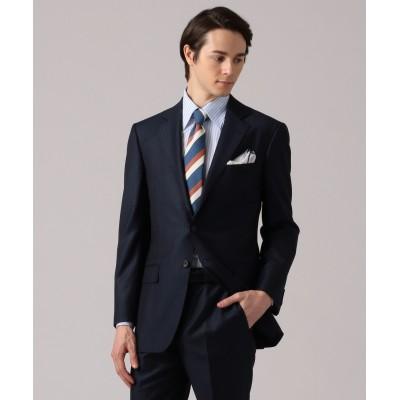 【DORMEUIL】EXEL BLUE ネイビー スーツ/ ストライプ