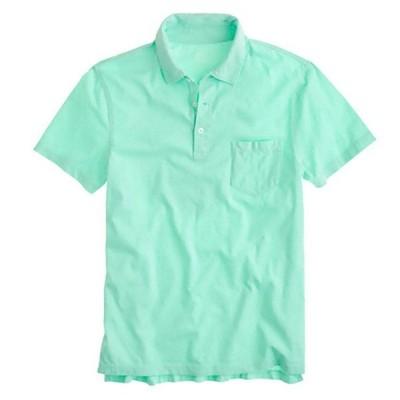 ジェイクルー J.Crew メンズ Men's 半袖 ポロシャツ Slim Broken-in Pocket Polo フレッシュスペアミント Fresh Speamint