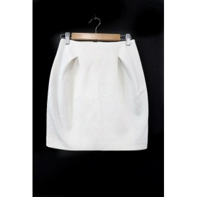 【中古】リリディア Lilidia スカート 台形 ミニ 0 白 ホワイト /RT6 レディース