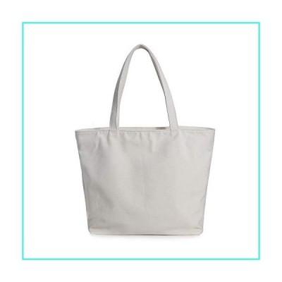 【新品】Weekend Shopper Canvas Bag Weekend Shoulder Bag Beach Tote Bag for Women with Zipper Clearance(Beige)(並行輸入品)