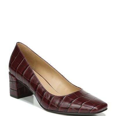 ナチュライザー レディース パンプス シューズ Karina Croc Embossed Leather Block Heel Pumps Cabsav Croc