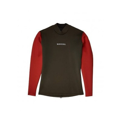 Rip Curl リップカール メンズ 男性用 スポーツ・アウトドア用品 水泳 サーフィン ウエットスーツ Dawn Patrol Reversible 1.5 m Long Sleeve Jacket - Khaki