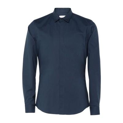 ドンダップ DONDUP シャツ ブルーグレー S 97% コットン 3% ポリウレタン シャツ
