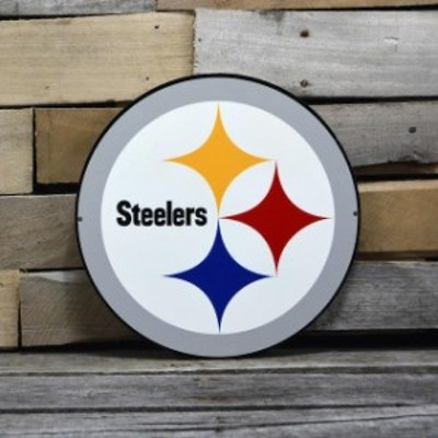 Authentic Street Signs オーセンティック ストリート サイン スポーツ用品  Pittsburgh Steelers White 12 Steel