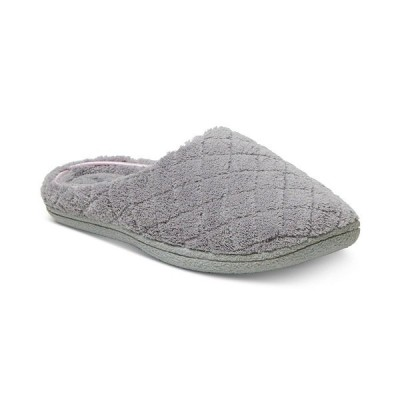 ディアフォームズ サンダル シューズ レディース Leslie Quilted Microfiber Terry Clog Slipper, Online Only Medium Gray